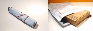 Поместите картонную коробку в пластиковый пакет